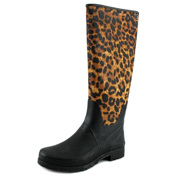 Ralph Lauren Cheetah Rainboots Size 8